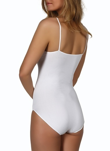 Miorre Dikişsiz Çıtçıtlı Body Beyaz
